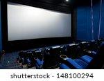 dark movie theatre interior.... | Shutterstock . vector #148100294