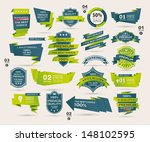 set of retro ribbons and labels ... | Shutterstock .eps vector #148102595