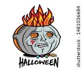 masked pumpkin michael myers.... | Shutterstock .eps vector #1481036684