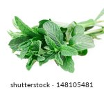 mint isolated on white... | Shutterstock . vector #148105481
