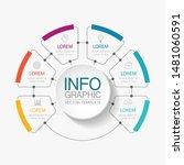 vector circular infographic... | Shutterstock .eps vector #1481060591