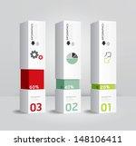 infographic template modern box ... | Shutterstock .eps vector #148106411