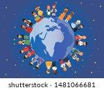 children of different...   Shutterstock .eps vector #1481066681
