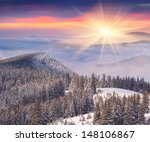 Beautiful Winter Sunrise In The ...