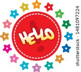 hello word concept. hello word...   Shutterstock .eps vector #1481097224