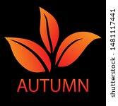 autumn logo on dark background. ... | Shutterstock .eps vector #1481117441