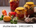 Homemade Jars Of Pickled...
