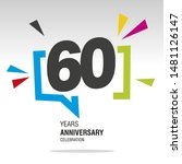 60 years anniversary colorful... | Shutterstock .eps vector #1481126147