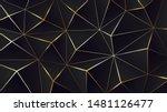 polygonal black background.... | Shutterstock .eps vector #1481126477