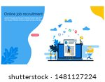 online recruitment vector...