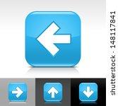 arrow icon set. blue glossy web ...