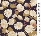 dark seamless pattern with...   Shutterstock .eps vector #1481181197