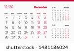 december page. 12 months... | Shutterstock .eps vector #1481186024