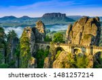 Bridge Named Bastei In Saxon...
