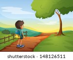 illustration of a young boy... | Shutterstock .eps vector #148126511