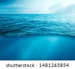 Wavy Sea Water Surface With Sk...