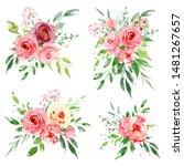 watercolor flower set ...   Shutterstock . vector #1481267657