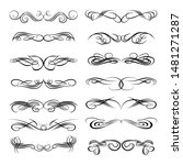decorative monograms and...   Shutterstock . vector #1481271287