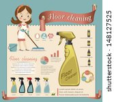 floor cleaner.vector illustration