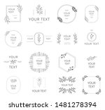 collection of hand drawn...   Shutterstock .eps vector #1481278394