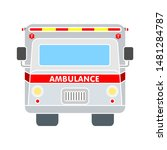 ambulance icon. flat... | Shutterstock .eps vector #1481284787