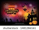 halloween lettering halloween...   Shutterstock .eps vector #1481286161