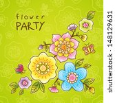 invitation card with fine...   Shutterstock .eps vector #148129631
