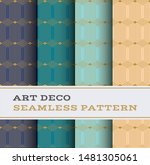 art deco seamless pattern with... | Shutterstock . vector #1481305061