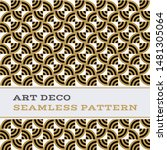 art deco seamless pattern with... | Shutterstock . vector #1481305064