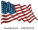 illustration of a waving us 48... | Shutterstock .eps vector #148131515