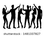 set vector silhouettes men and... | Shutterstock .eps vector #1481337827