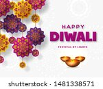 diwali festival of lights... | Shutterstock .eps vector #1481338571