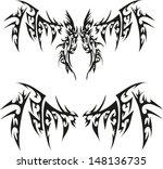 devil wings tattoos. | Shutterstock .eps vector #148136735