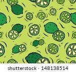tasty limes seamless pattern   Shutterstock .eps vector #148138514