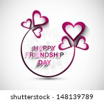 happy friendship day hearts... | Shutterstock .eps vector #148139789