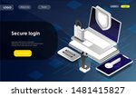 two identity authentication...   Shutterstock .eps vector #1481415827