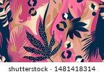 modern exotic pattern with...   Shutterstock .eps vector #1481418314