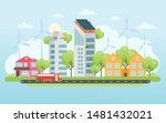 eco friendly housing complex  ... | Shutterstock .eps vector #1481432021