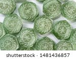 green menthol candies closeup... | Shutterstock . vector #1481436857
