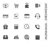 e commerce vector icons set... | Shutterstock .eps vector #1481442164