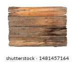 brown wooden sign on a white... | Shutterstock . vector #1481457164