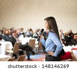 beautiful business woman is...   Shutterstock . vector #148146269