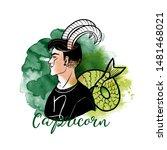 capricorn zodiac design as men... | Shutterstock .eps vector #1481468021