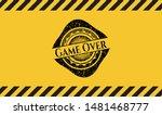 Game Over Grunge Black Emblem...