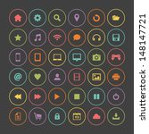 set of colorful round icons ... | Shutterstock .eps vector #148147721