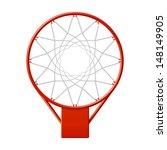 Basketball Hoop. Vector.