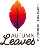 autumn leaves in gradient.... | Shutterstock .eps vector #1481502044