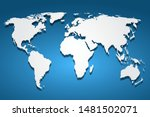 white world map  continents of... | Shutterstock .eps vector #1481502071
