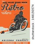 vector old school race poster. | Shutterstock .eps vector #148150574