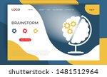 brainstorm landing page... | Shutterstock .eps vector #1481512964